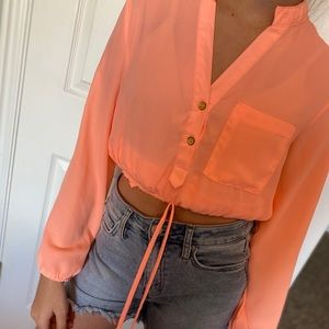 Bright pink blouse! Rue21